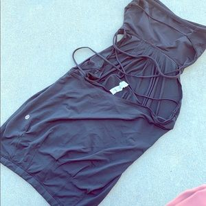 Lululemon- strapless dress strappy black
